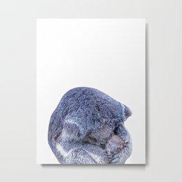 koala holding little koala Metal Print