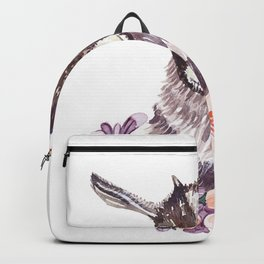 Baby head goat watercolor. Backpack