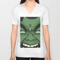 hulk V-neck T-shirts featuring Hulk by illustrationsbynina
