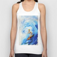 surfer Tank Tops featuring Surfer by Jose Luis Ocana