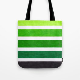 Colorful Green Stripes Tote Bag