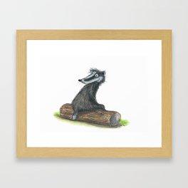 Badgers Date Framed Art Print