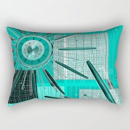 Retro! Retro! Star burst clock Rectangular Pillow