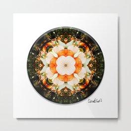4 Point Mandala - Pumpkins Metal Print