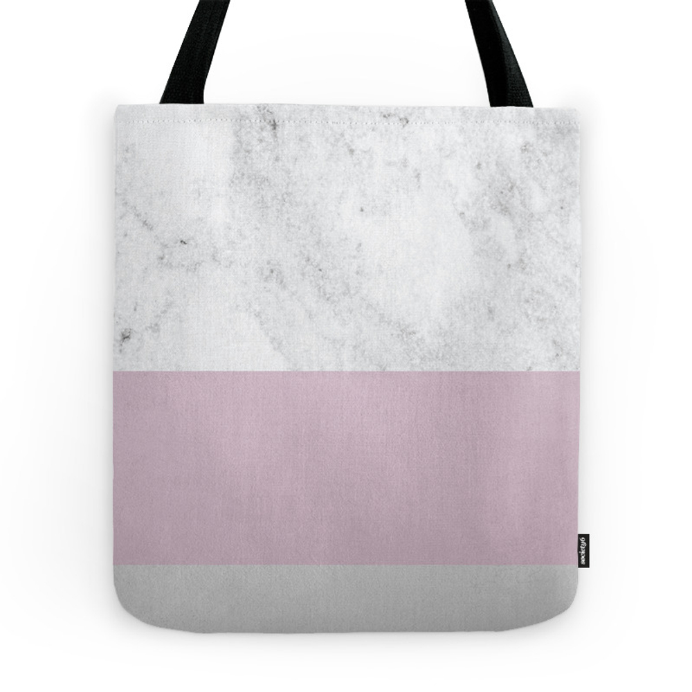 Pink Marble Tote Purse by xochrisco (TBG7474347) photo