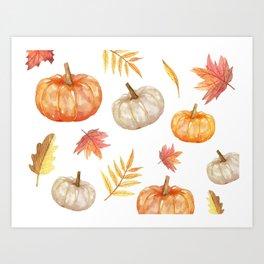 Autumn elements Art Print
