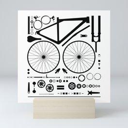 Bike Parts Exploded Mini Art Print