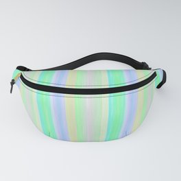 Turquoise Yellow Scrapbook Sherbert Fanny Pack