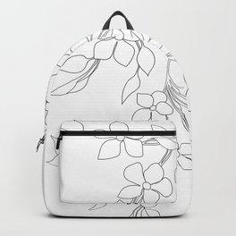 Minimal Wild Roses Line Art Backpack