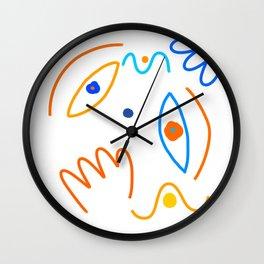 Portrait of a cheerful clown Wall Clock