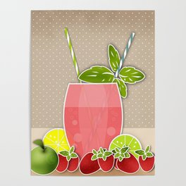 Retro design. Fresh drink Poster
