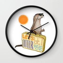 Let's Get Otter Here! Wall Clock