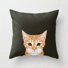 Chase - Cute Cat gifts for pet lovers cat lady gifts and perfect gifts for cat person and cute tabby Throw Pillow