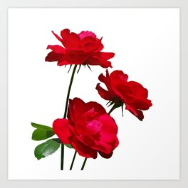 Roses are red, really red! Art Print