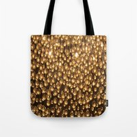 chandelier Tote Bags featuring Chandelier  by Emily Joie de Vivre