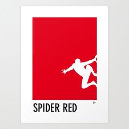 My Superhero 04 SpiderRed Minimal poster Art Print