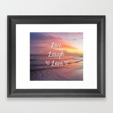 Live Laugh Love - Beach Framed Art Print