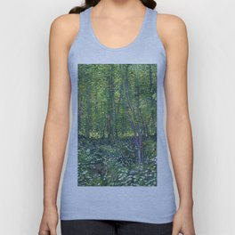 1887-Vincent van Gogh-Trees and undergrowth Unisex Tank Top