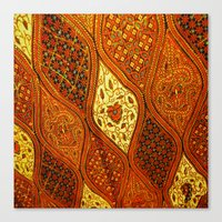 batik Canvas Prints featuring batik  by customgift