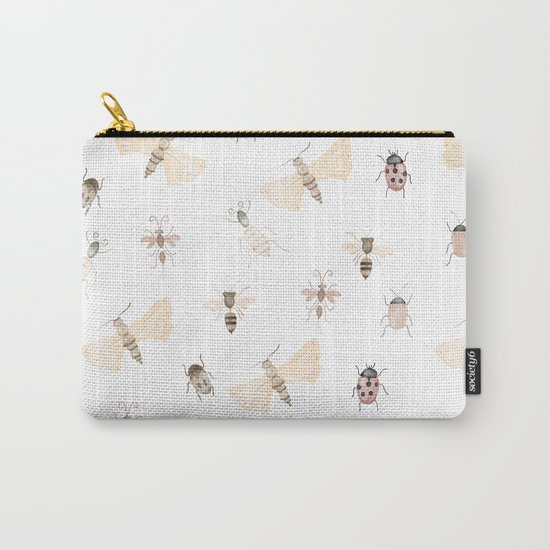 Insects and Bugs Pattern Carry-All Pouch