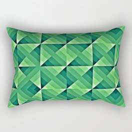 Green Geo Pattern Rectangular Pillow