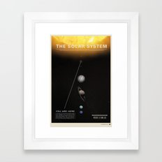 THE SOLAR SYSTEM - Sun | Venus | Mercury | Earth  | Space | Time | Science | Planets | Moon Framed Art Print