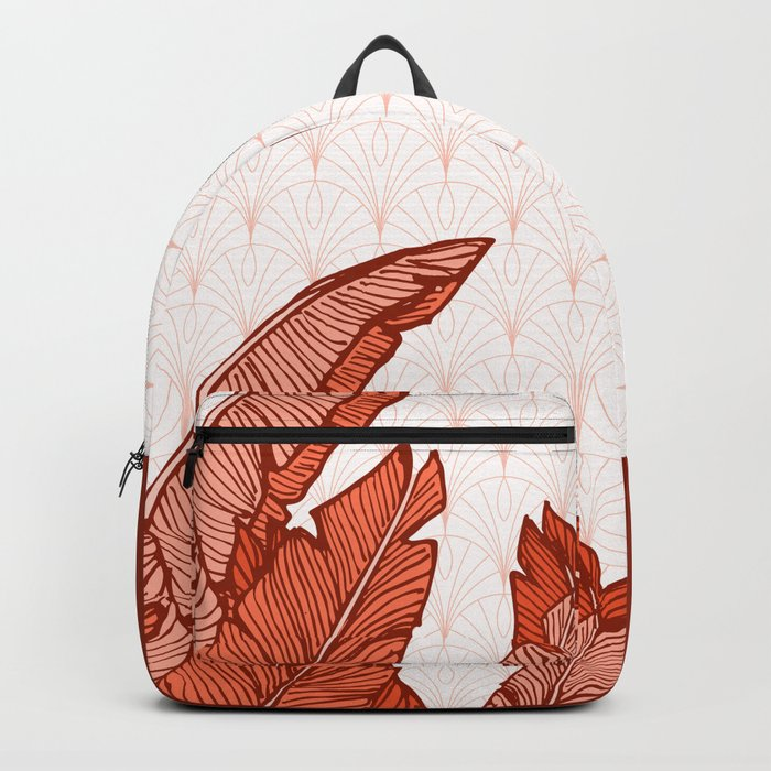 Red Tropical Leaves #society6 #decor #buyart Backpack