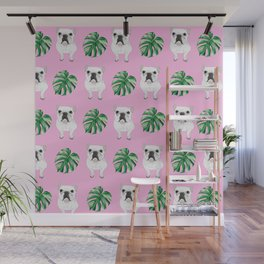 Pretty in Pink - Summer Frenchies Wall Mural