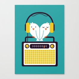 Radio Mode Love Canvas Print