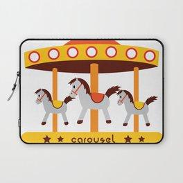 carousel amusement park Laptop Sleeve