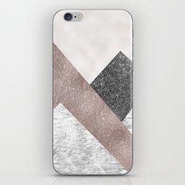 Rose grunge - mountains iPhone Skin