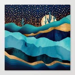 Indigo Desert Night Canvas Print