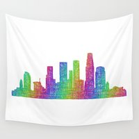 los angeles Wall Tapestries featuring Los Angeles by David Zydd
