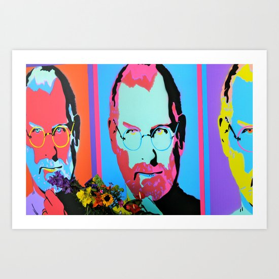 Steve Jobs Memorial in Santa Monica, CA Art Print