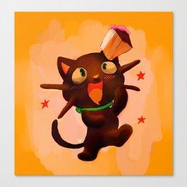 Choco Cat Canvas Print