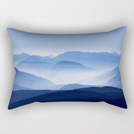 Blue mountains landscape Rectangular Pillow