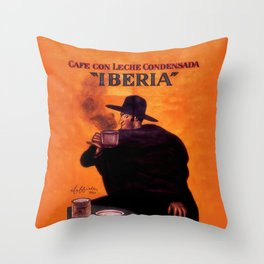 Leonetto Cappiello Iberia Coffee Advertising Poster Throw Pillow