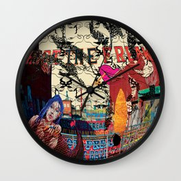 Shoot the Freak Wall Clock