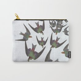 Dipping and dancing barn swallows Carry-All Pouch