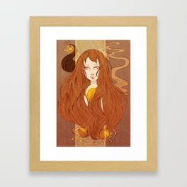 Tangled Earth Framed Art Print