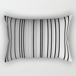 Sleek Gray Toned Stripes and Silvery Moon Rectangular Pillow