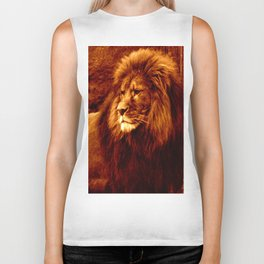 Golden Lion Biker Tank