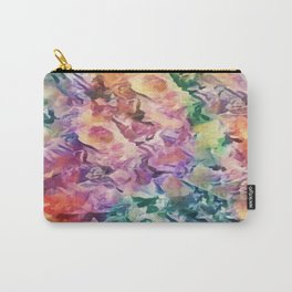 Bright Cheerful Mulitcolor Floral Abstract Carry-All Pouch