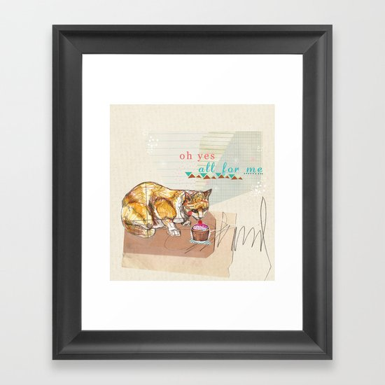 Illustration Friday- Dessert Framed Art Print