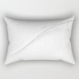 Straw covered in snow Rectangular Pillow