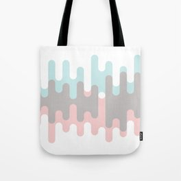 Pastel Pink ,Gray and Blue Liquid Shape Tote Bag