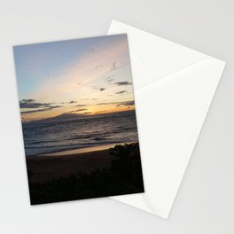 Sunset off the edge of the world Stationery Cards