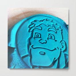 Hulk in Playdough Metal Print