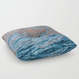 iridescent ocean Floor Pillow