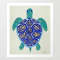 sea turtle Art Prints featuring Sea Turtle by Cat Coquillette